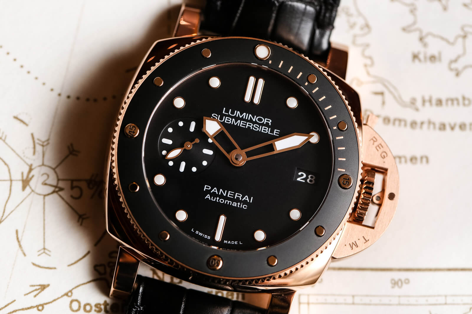 Panerai Luminor Submersible 1950 3 Days Automatic  Oro Rosso - PAM 00684