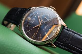 Rolex Cellini Date - Blue Guilloche dial