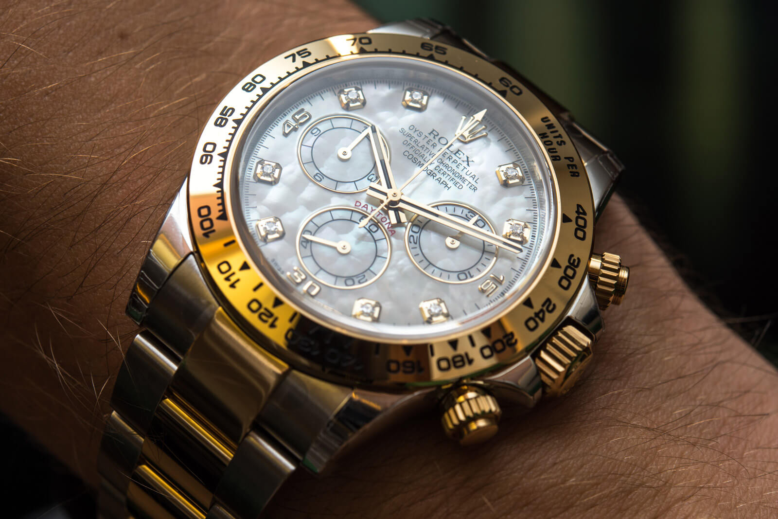 Rolex Daytona Ref. 116503 - White mother of pearl & diamonds