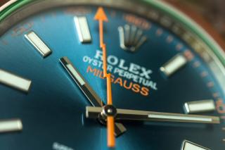 Rolex Milgauss – Z-Blue SZÁMLAP