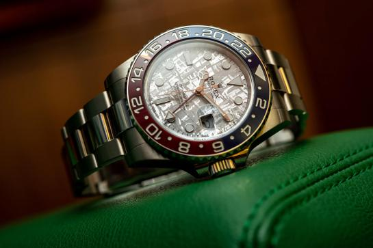 Rolex GMT-Master II - Ref. 126719BLRO with meteorite dial