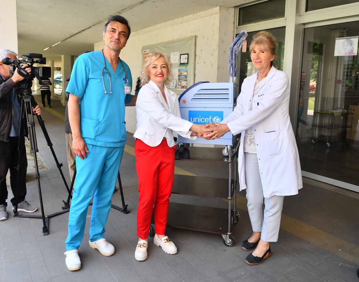 Podrška UNICEF-u i Klinici za dečije interne bolesti UKC Niš