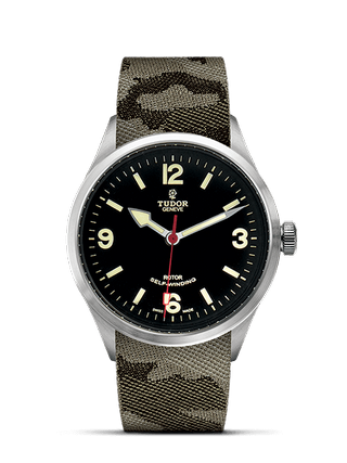 41 mm Steel Case Camouflage Fabric Strap
