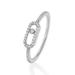 Move Uno pavé diamond ring