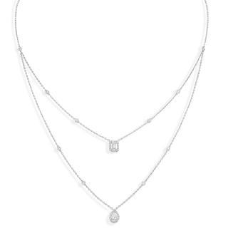My Twin 2 rows diamond necklace