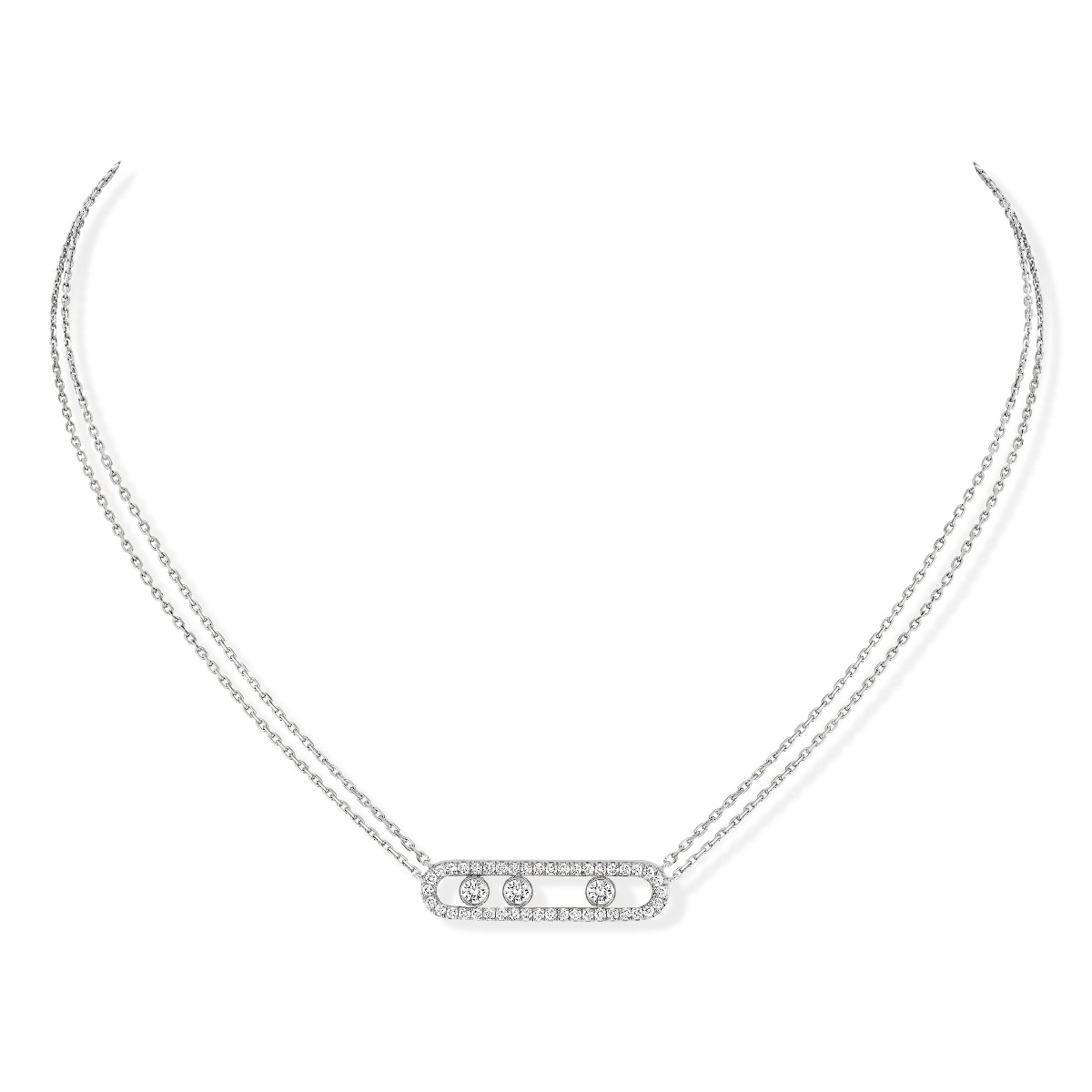 Move pavé necklace