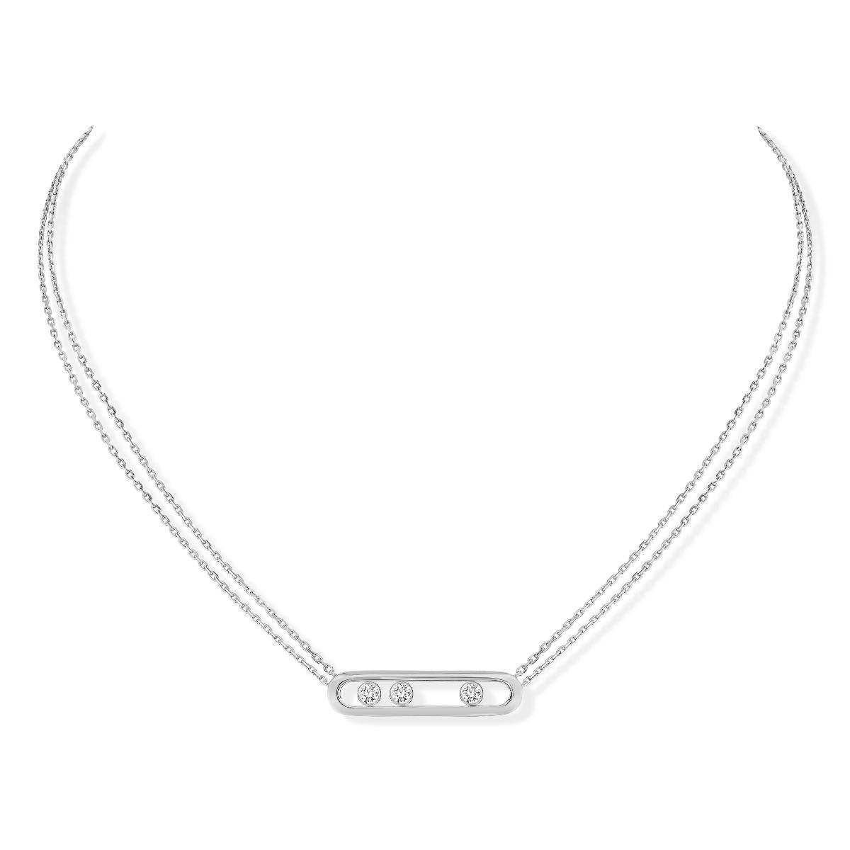 Move diamond necklace