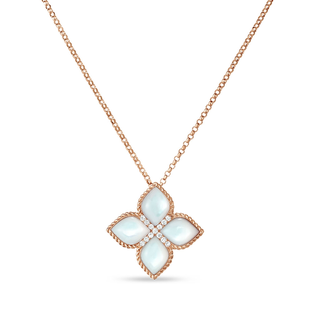 Princess Flower Mother Of Pearl Collar Adv888cl1569
