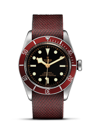 Matt Burgundy Disc Burgundy Leather Strap