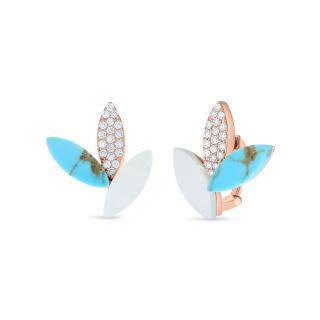 Petals Turquoise naušnice