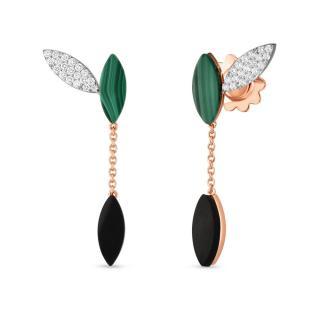 Petals Black Jade earrings