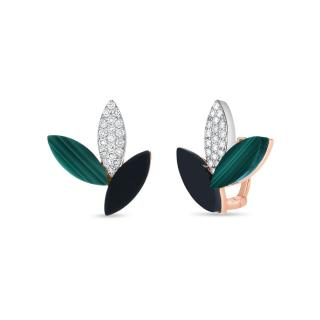 Petals Black Jade naušnice