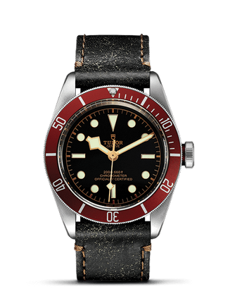 Matt Burgundy Disc Aged Leather Strap