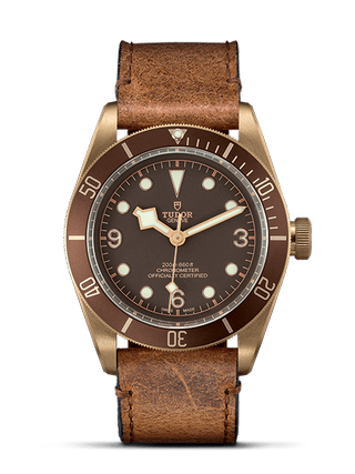 43 mm Bronze Case Aged Leather Strap
