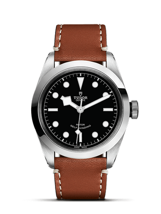 41 mm Steel Case Brown Leather Strap
