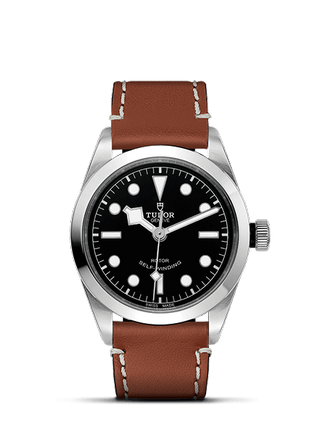 36 mm Steel Case Brown Leather Strap
