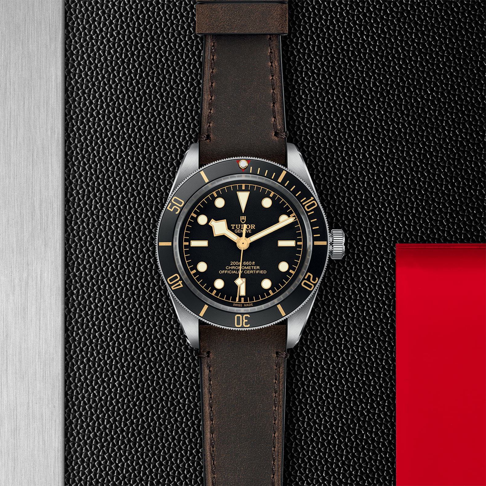 Black Dial Brown leather strap