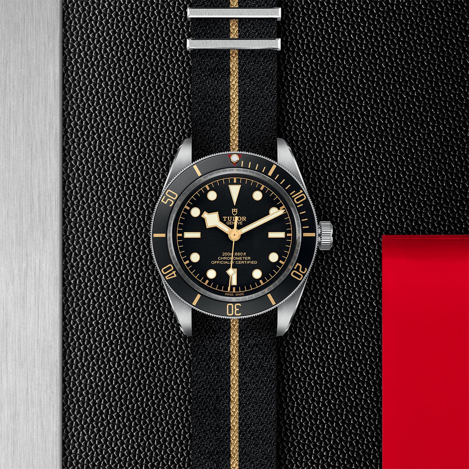 Black Dial Fabric strap
