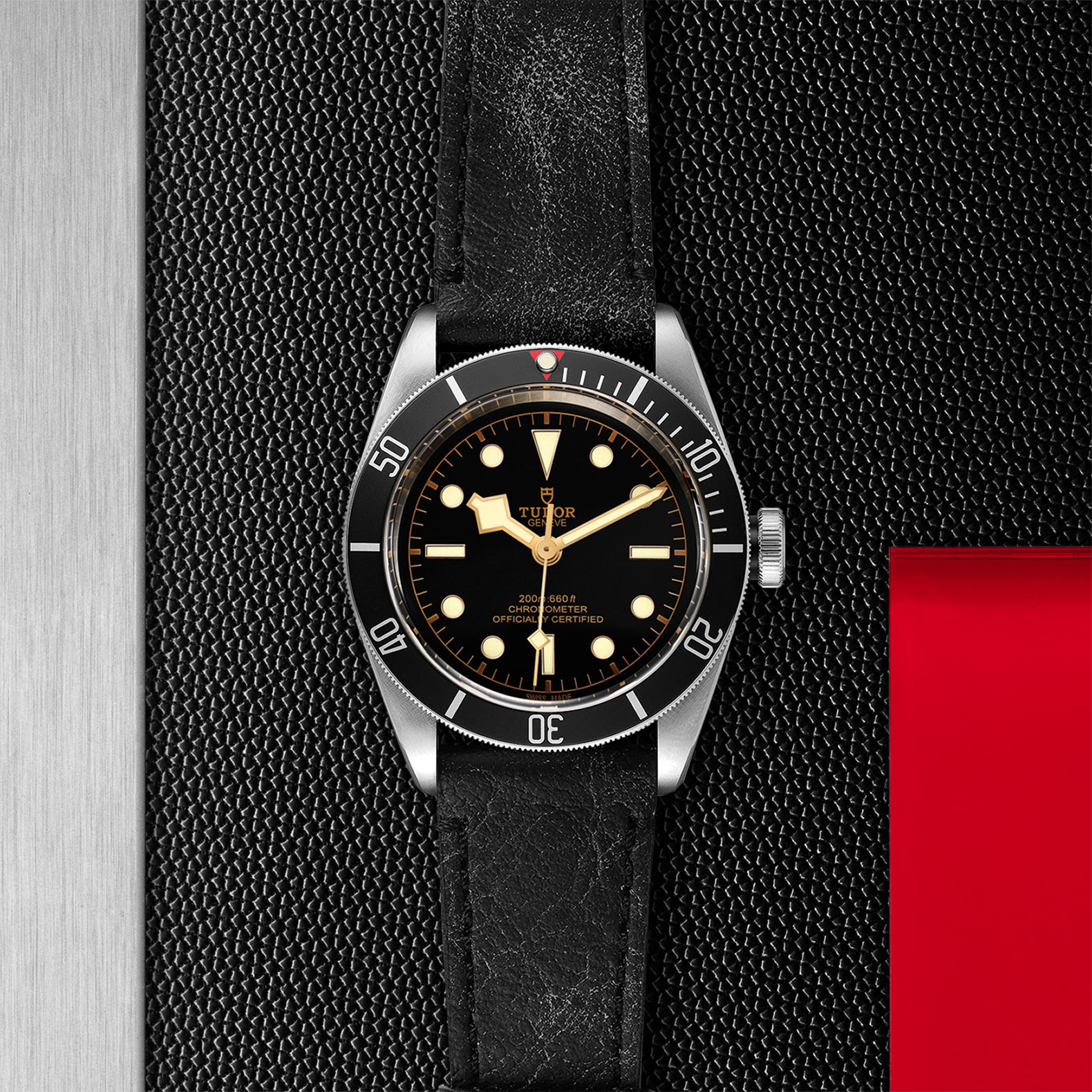 Black Dial Aged leather strap