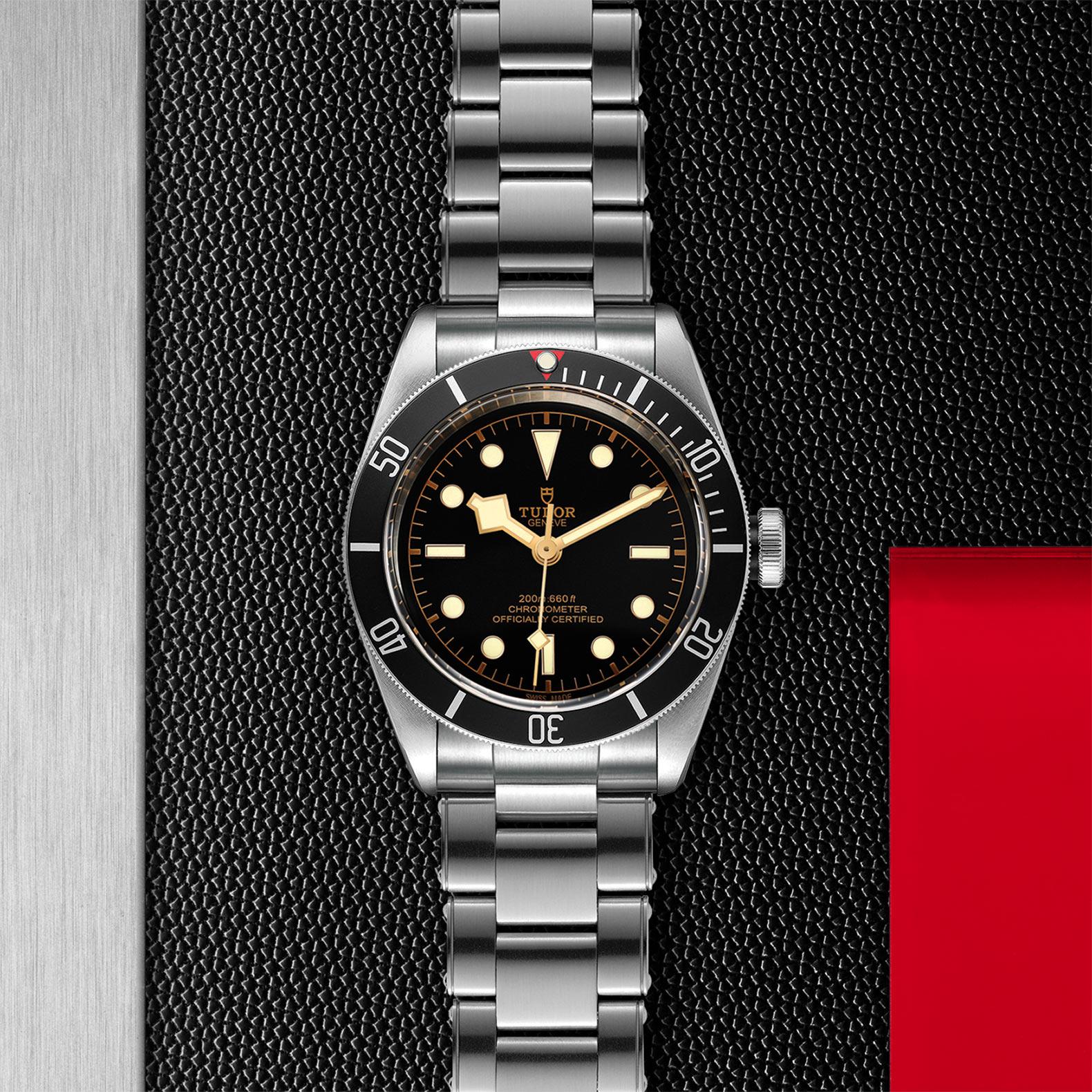 Black Dial Rivet steel bracelet