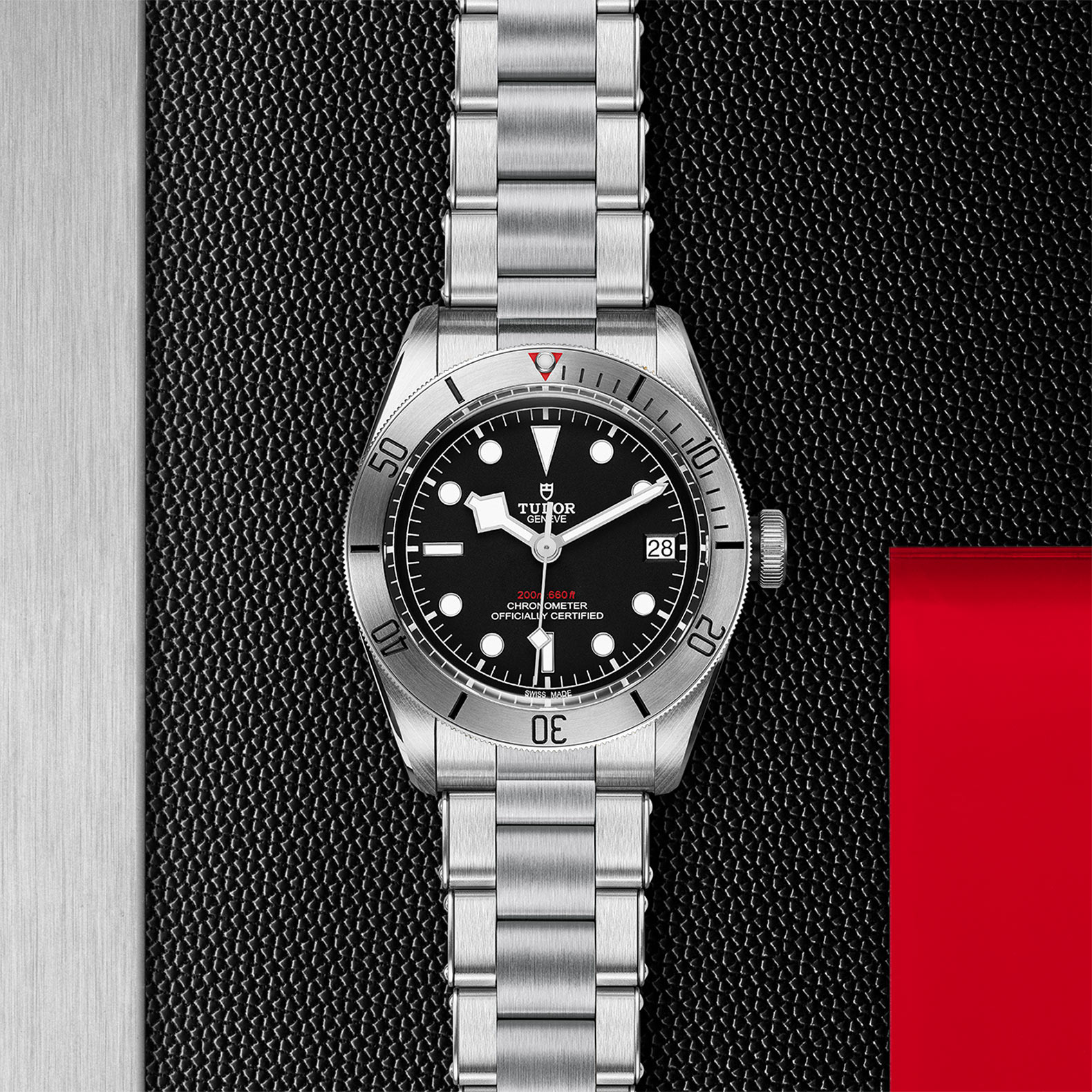Black Dial Steel bracelet